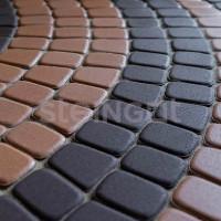 Тротуарная плитка Классика круговая Темно-коричневая