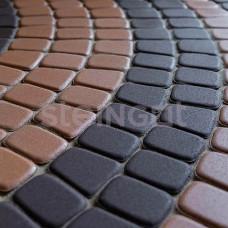 """Тротуарная плитка """"Steingot"""" Классика круговая Темно-коричневая"""