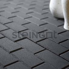 """Тротуарная плитка Брусчатка Steingot """"Прямоугольник"""" 200*100*60 Черная (верхний прокрас)"""