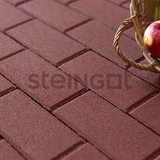 """Тротуарная плитка Брусчатка Steingot """"Прямоугольник"""" 200*100*60 Темно-красная (верхний прокрас)"""