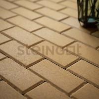 Тротуарная плитка Брусчатка 200*100*60 Желтая (верхний прокрас)