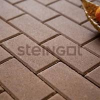 Тротуарная плитка Брусчатка 200*100*60 Коричневая (верхний прокрас)