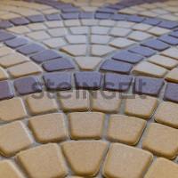 Тротуарная плитка Классика круговая Желтая