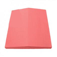 Колпак (крышка) на забор бетонный 390х350 мм (Красный)