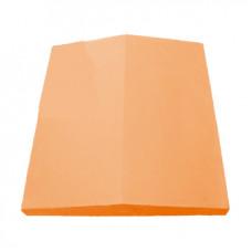 Колпак (крышка) на забор бетонный 390х350 мм (Оранжевый)