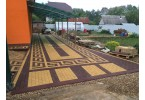 Тротуарная плитка Брусчатка (Кирпичик) (2П7Ф) 100х200х70 мм
